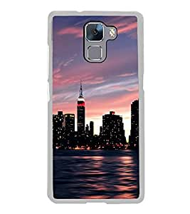 City Scape 2D Hard Polycarbonate Designer Back Case Cover for Huawei Honor 7 :: Huawei Honor 7 Enhanced Edition :: Huawei Honor 7 Dual SIM