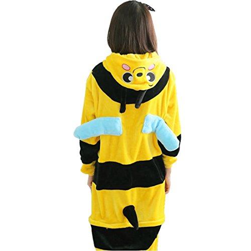 Imagen de kigurumi pijamas unisexo adulto traje disfraz adulto animal pyjamas iflife s para altura 148 158cm , abeja  alternativa
