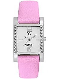 Youth Club New Purple Collection White Dial Analog Watch For Women-SQDM-PP