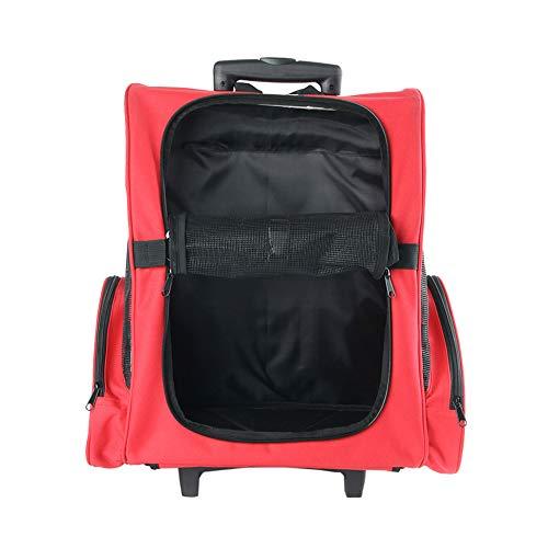 527BL Haustier-Rucksack mit Rollen, für Katzen, Hunde, Gepäcktasche, Netzbelüftung, langlebig, für Reisen und im Außenbereich