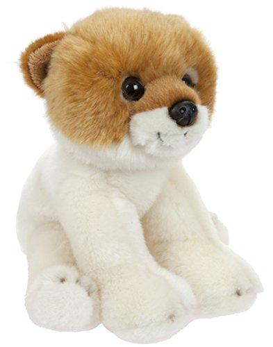 Plüschtier Hund Zwerg Spitz Welpe, Plüschhund Kuscheltier Happy sitzend ca. 22 cm