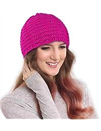DRUNKEN Women's Beanie Skull Cap (Ilu841-7, Pink)
