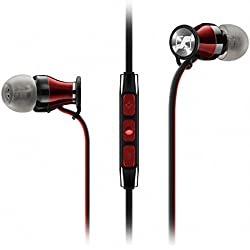 [Cable] Sennheiser Momentum In Ear - Auriculares con cable para móvil in-ear (control remoto integrado, para Iphone/Ipod/Ipad), color negro y rojo