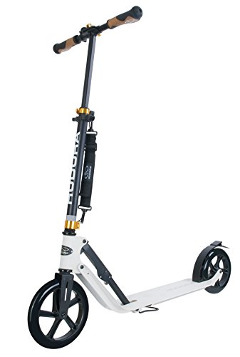 Hudora 14236 scooter - scooters (Adults, Asphalt, Negro, Color blanco, Poliuretano, Aluminio)