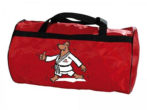 "DANRHO ""Let`s go"" KWON Ki-Tasche BÄR rot KINDER Kindertasche Tasche Sporttasche Kampfsporttasche Trainingstasche Kids Budo Kampfsport Ju Jutsu BJJ Aikido Judo Karate Taekwondo Kung Fu 336018001"