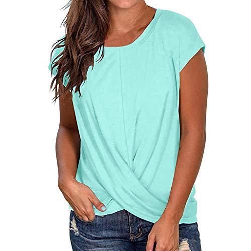 TOPSELD T Shirt Damen, Sommer Kurzarm Rundhals Frauen Stabiles T-Shirt,Top BeiläUfige Bluse