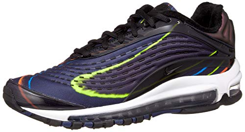 Nike Men's Air Max Deluxe Competition Running Shoes, Multicolour Black/Midnight Navy/Reflect Silver 001, 10 UK