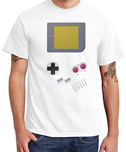 Kart Kostüm Luigi Mario (-- Handheld -- Boys T-Shirt Weiss, Größe)