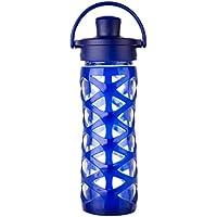 Lifefactory – Botella de Cristal con Tapa Active Flip Cap, Vidrio, Zafiro, 6.5