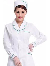 Xuanku Las Enfermeras Llevar Ropa De Manga Larga Ropa De Laboratorio, Farmacia, Salón De