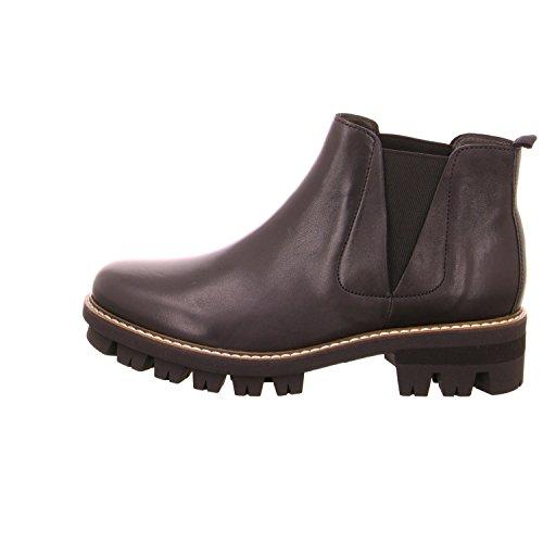 Gabor  53.710.27, Chaussures bateau pour femme Noir
