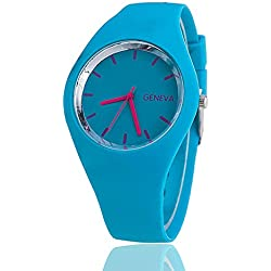 Jelly Silicone Geneva Watch Fashion Women Wrist Watch Casual Luxury Watches Hot Selling Relogio Feminino