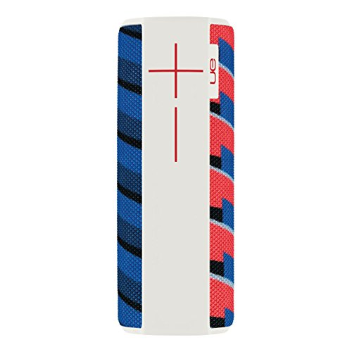 Ultimate Ears UE Megaboom - Altavoz portátil Bluetooth, color rojo, azul y blanco