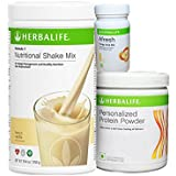 Herbalife F 1 Vanilla F 3 Protein Powder and Afresh Lemon (500 g)