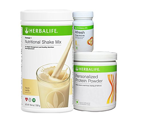 Herbalife F 1 Vanilla F 3 Protein Powder And Afresh Lemon - 500 g