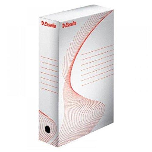 Esselte scatola archivio per documenti a lungo termine, boxy 80, a4, confezione da 10, priva di acidi, dorso da 80 mm, bianco, 128003