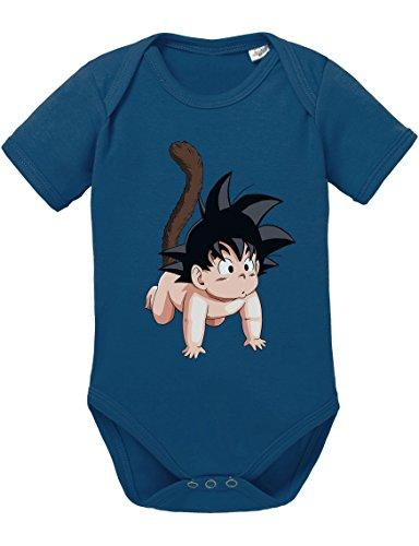 Son Goku Baby Strampler Body Dragon Master Son Ball Vegeta Turtle Roshi Db, Größe:62;Farbe:Navy
