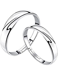 19 Likes Love Gifts Silver Metal Alloy Size Adjustable Finger Rings for Couples for Women