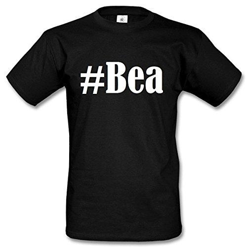 T-Shirt #Bea Hashtag Raute für Damen Herren und Kinder ... in den Farben Schwarz und Weiss Schwarz