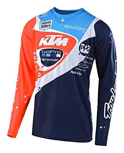 Troy Lee Designs SE Pro Neptune Motocross Jersey Dunkelblau/Orange L Troy Lee Designs Se Jersey