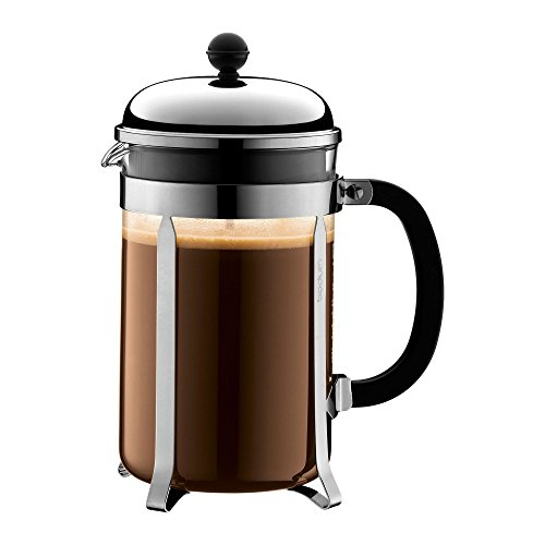 NO.1 COFFEE & TEA PRODUCTS BODUM CHAMBORD 12 CUP FRENCH PRESS COFFEE MAKER, CHROME, 1.5 L, 51 OZ BEST BUY REVIEWS UK