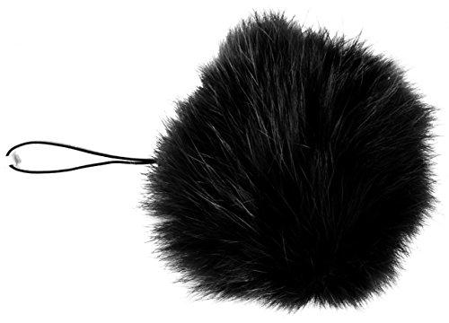 3per 2. 8cm Portachiavi Pompon portachiavi palla 8cm in vera pelliccia, Monster morbido con ciondolo Fendi Michael Kors–Amici pelosi Dune Coniglio design Genuine Unique Different Unusual Elegante, Black