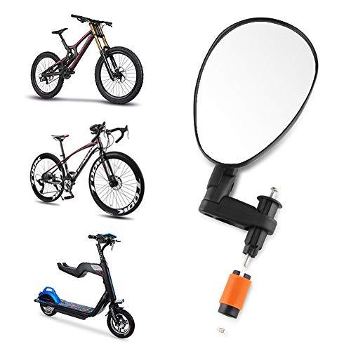 YASHANG Fahrradspiegel Mountainbike Rennrad Lenker Konvexer Spiegel Rückspiegel Fahrradzubehör Rückspiegel 360 ° Weitwinkel Spiegeln Flexibel Sicherheit