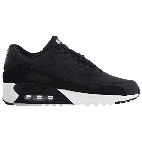 Nike Youth Air Max 90 Black White Leather Trainers 36 EU