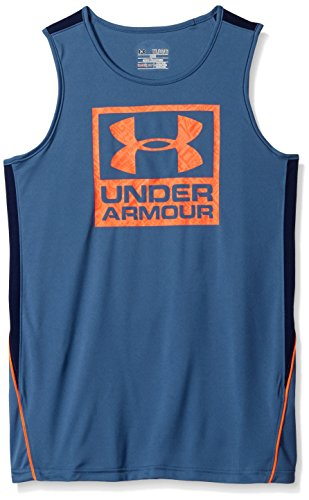 Never Back Down Under Armour Canotta Fitness da ragazzo , Ragazzo, Fitness Never Back Down Tank, Blu ardesia, S