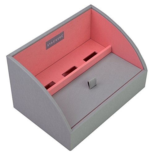 Price comparison product image STACKERS Charging Valet 'MINI SIZE' Dove Grey STACKER Charging Valet with Coral Lining