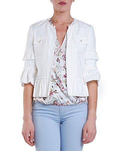 Liu Jeans Bianco 36 Lana Taille Blouson Unique Femme 29DWEIH