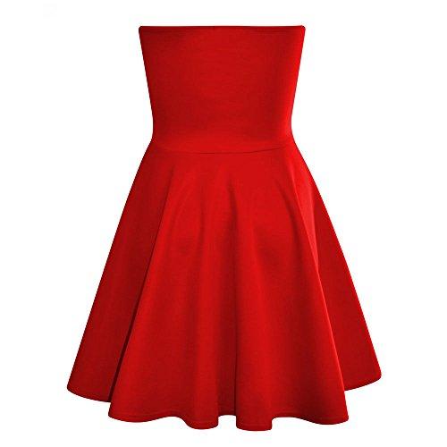 Outofgas Clothing Robe Patineuse rembourrée longue Bodycon plissée Rouge - Rouge