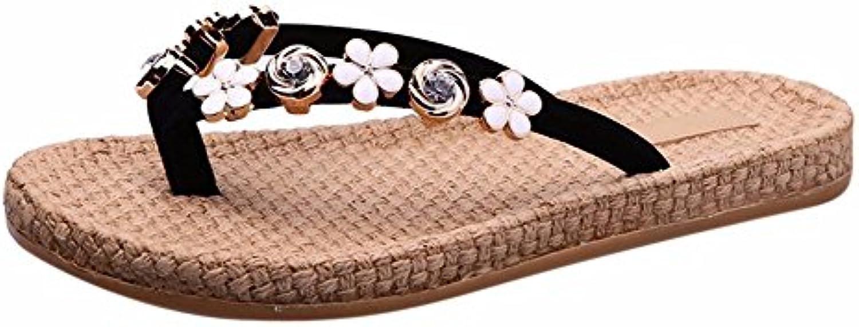 YUCH Zapatillas De Mujer Flores En Verano, Agua Y Calzado De Playa Wear-Resistant Taladro