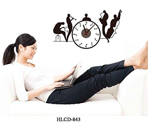 Reloj De Pared Pared Pegatinas Reloj Música banda