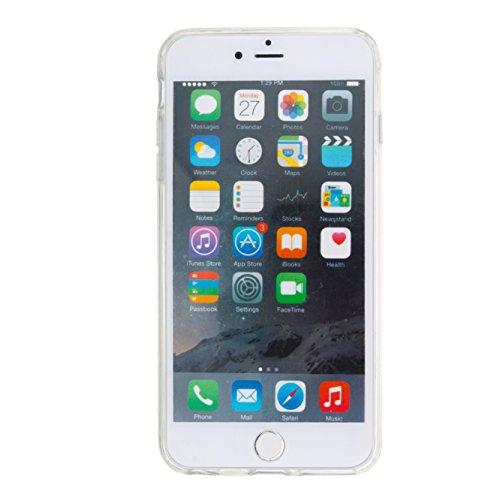 TOCASO Copertura di Cover in TPU Case per Apple iPhone 7 Custodia Silicone, Transparent Belle Creativo Disegni 3D Bling di lusso lucido Gloss Colorati Glitter Brillantini Sparkle Fluido Liquido cover  Fiori Viola e Orsi