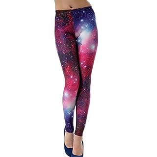 Ahatech Damen Galaxy Print Stretch Legging Strumpfhose