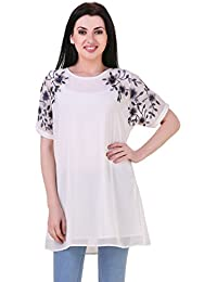 Mind The Gap Embroidered sleeves Georgette Tunic