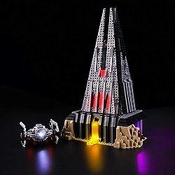 BRIKSMAX Kit de LED pour Lego Star Wars Le château de Dark Vador, Compatible avec la Maquette Lego 75251, La Maquette de Construction n'est Pas Incluse