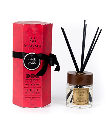 Magma London - Bernstein & Moschus Mirage - Luxus Reed Diffusor - 100 ml Deluxe Box Geschenk Set -