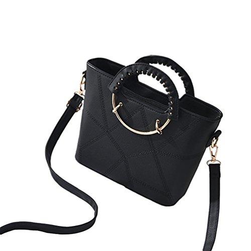 Baymate Casual Borsa Messenger Bag Donna Elegante Borsa Tracolla Borse a Mano Nero