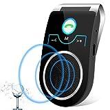 [2 Anni Garanzia] Aigital t825 Kit Vivavoce Bluetooth V4.1 per Auto,per Chiamate Viva voce, GPS e Musica, Supporto per aletta Parasole,connettere due dispositivi di smartphone contemporaneamente