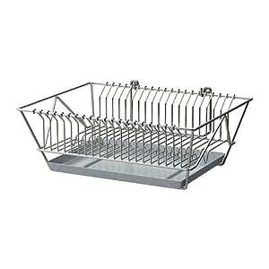 IKEA FINTORP–Égouttoir à vaisselle, nickelé–37.5x 29x 13,5cm