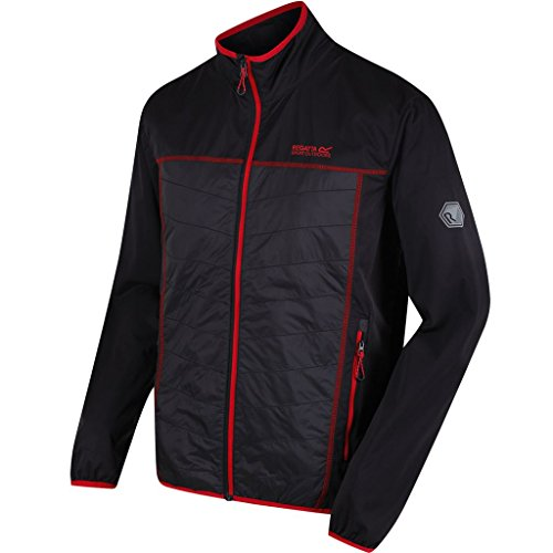 Regatta Herren Walson Hybrid Jacke, Black/Seal Grey, M -