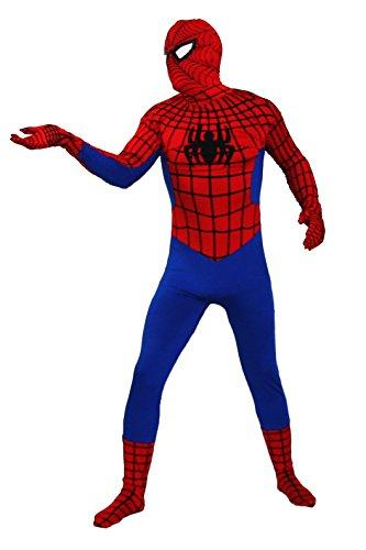 Spiderman Kostüm in bester Qualität Ganzkörperkostüm in rot Modell: Red Spiderman Größe: XL