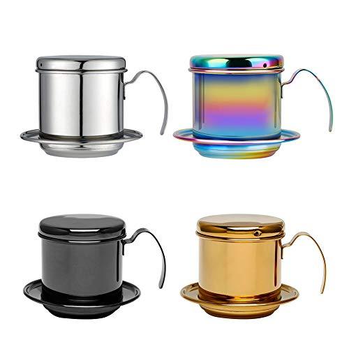 halonzhor 304 Stainless Steel Vietnam Coffee Drip Filter Kettle Cup Filter Drip Cup Kaffee-Perkolatoren Espressokocher Kaffeebereiter Perkolatoren Kaffeemaschinenzubehör (1) Kaffeemaschinenzubehör