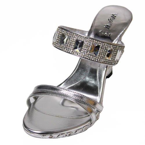 Wear & Walk UK , Sandales pour femme multicouleur Black/Gold/Silver Argent - argent
