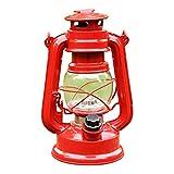 PK Green Farol LED Decorativo a Pilas, Lámpara Vintage Roja