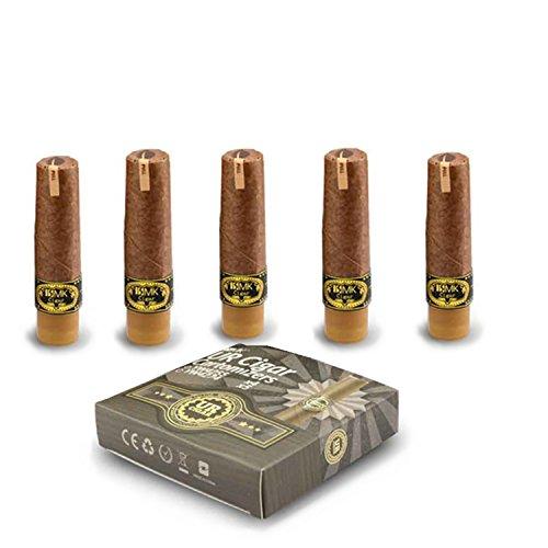 5x Cartomizzatore (ricarica preriempita, sapore: tabacco classico) per ISMK UR-Cigar UR M (senza nicotina o tabacco)