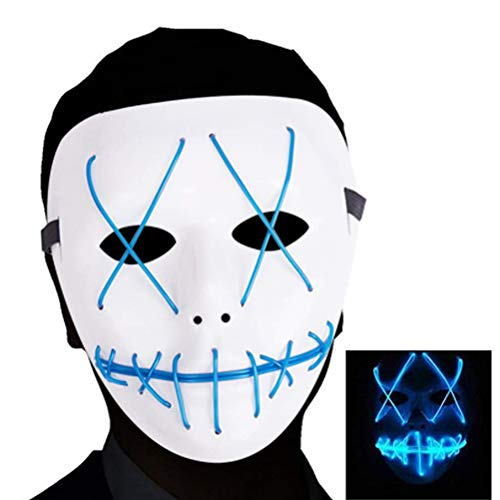 akiter Halloween Maske Cosplay LED Luminous Maske Purge DJ Mask Cosplay LED Light für Halloween Kostüm Festival Party