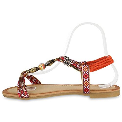 Vermelho Moda Etno Riemchesandalen Pérola Verão Senhoras Sapatos wXHqX1g